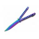 nóż motylek tęczowy